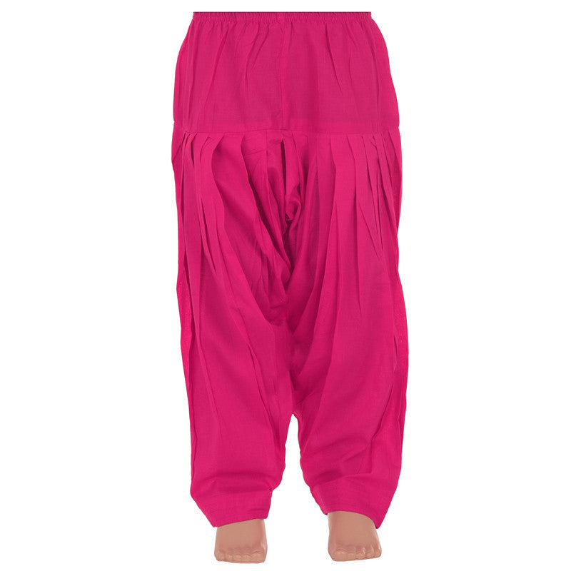 Kids Colour Magenta Haze Pure Cotton Patiala Bottom