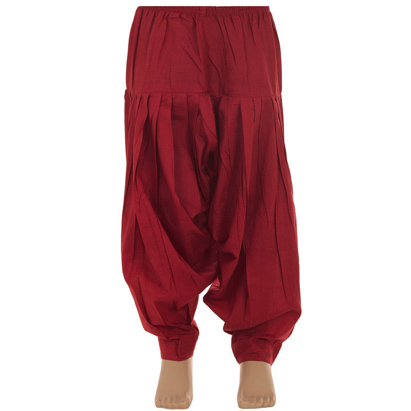 Kids eSTYLe Maroon Patiala Bottom