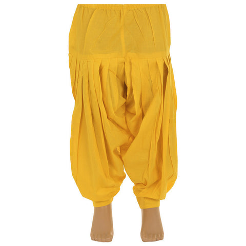 Kids Patiala Bottom From eSTYLe Colour Vibrant Yellow