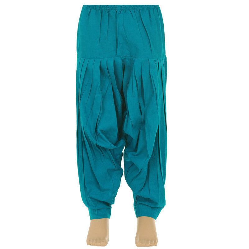 Kids 100% Cotton Teal Blue Patiala Bottom From eSTYLe