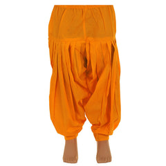 eSTYLe Girls Sun Orange Cotton Patiala