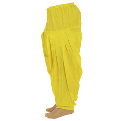 Blazing Yellow Pure Cotton Patiala From eSTYLe Girls