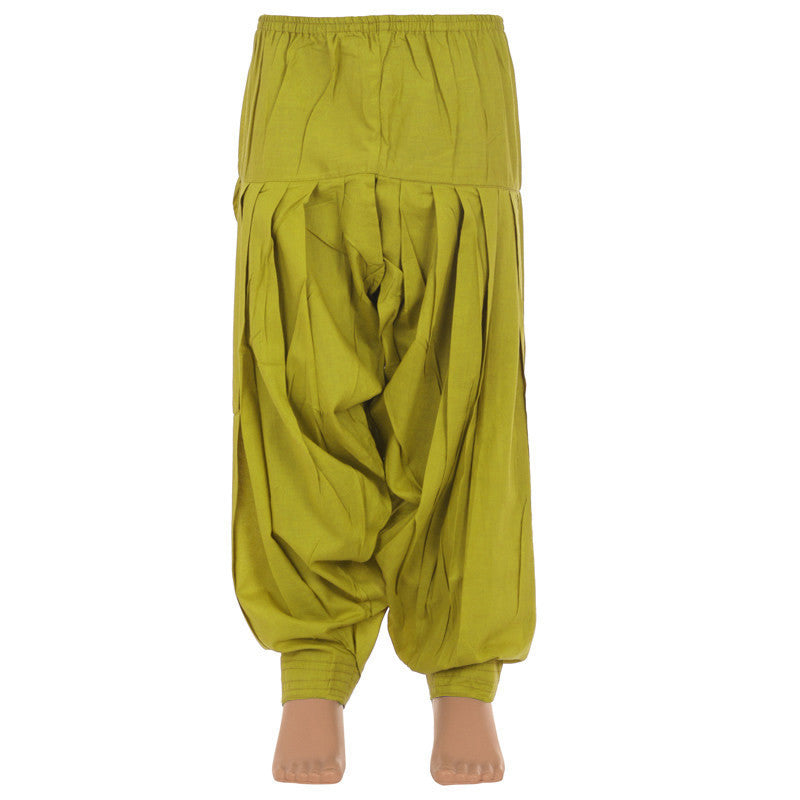 eSTYLe Girls Olive Green Cotton Patiala