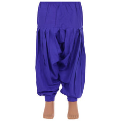 eSTYLe Girls Dazzling Blue Pure Cotton Patiala
