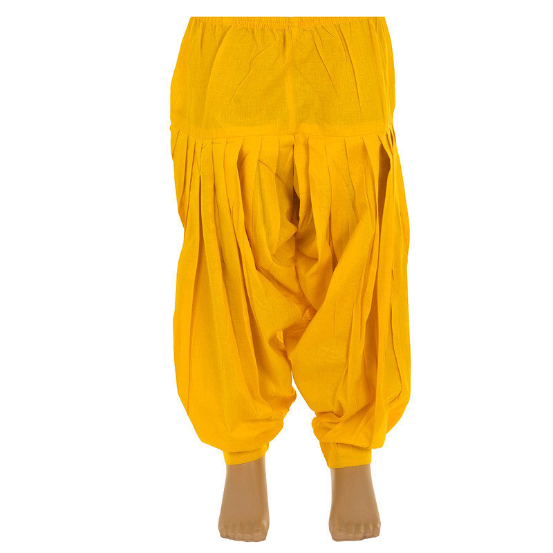 Mango Yellow Pure Cotton Patiala From eSTYLe Girls