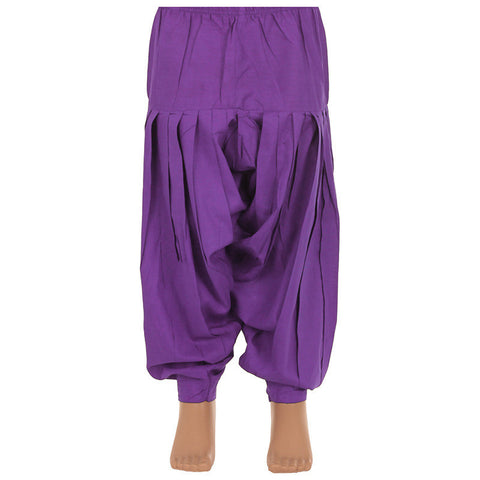 Royal Lilac Pure Cotton Patiala From eSTYLe Girls