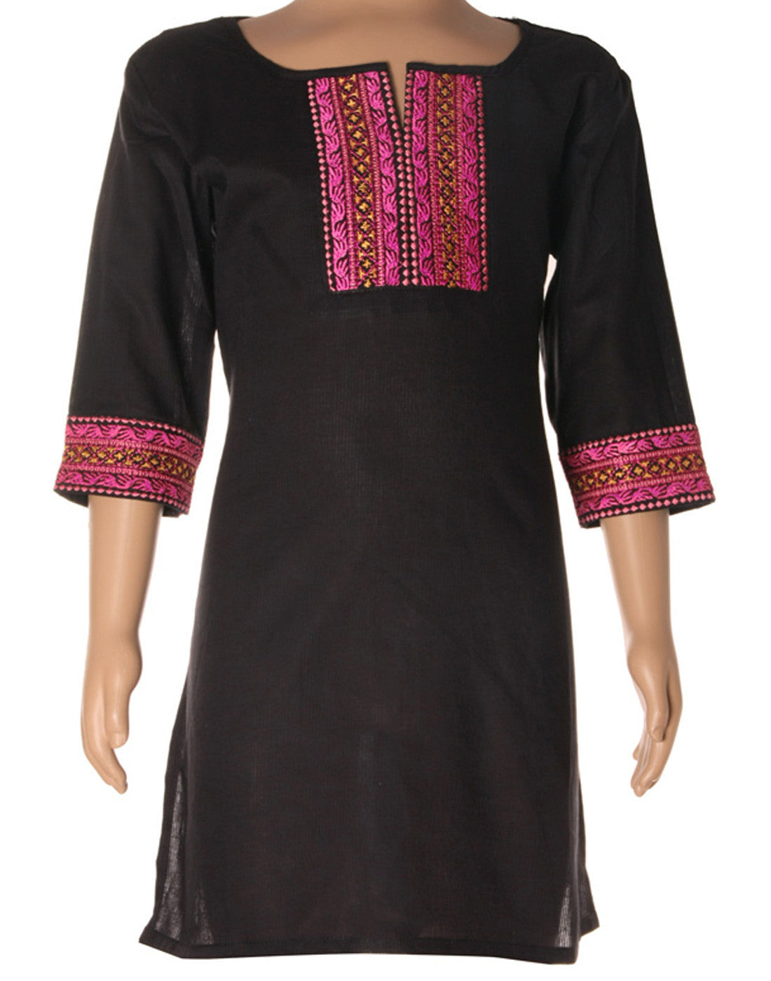 Elegant Dyed Cotton Kurti With Elite Embroidery