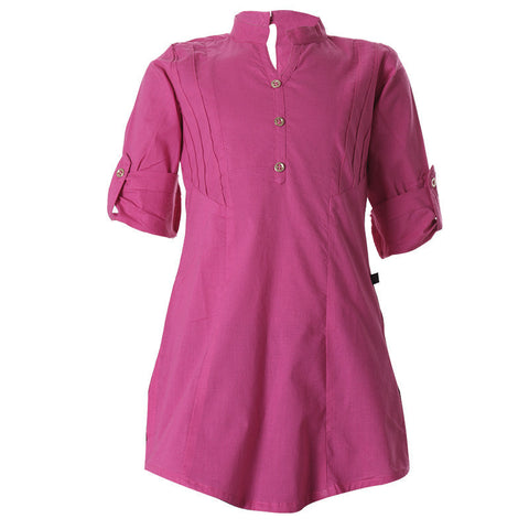 Lilac Rose Cotton Pretty Kurta For Girls From eSTYLe