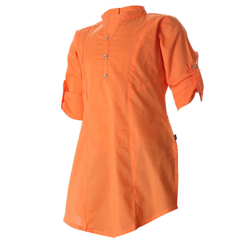 eSTYLe Bird Of Paradise Closed Placket With Chinese Collar Cotton Kurta