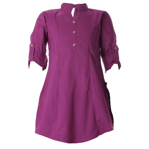 Deep Orchid Cotton Pretty Kurta For Girls From eSTYLe