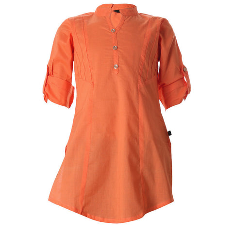 Spicy Orange Cotton Kurta For Cute Kids From eSTYLe