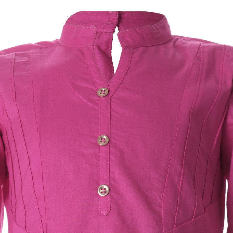 eSTYLe Fuchsia Purple Cotton Kurta for Pretty Kids