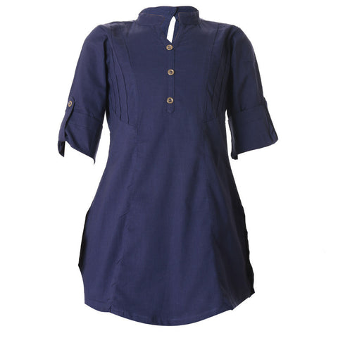 Blue Ribbon Cotton Pretty Kids Kurta From eSTYLe