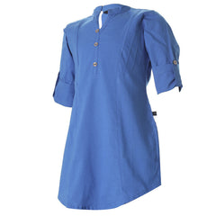 eSTYLe Federal Blue Cotton Comfortable Kurta For Girls