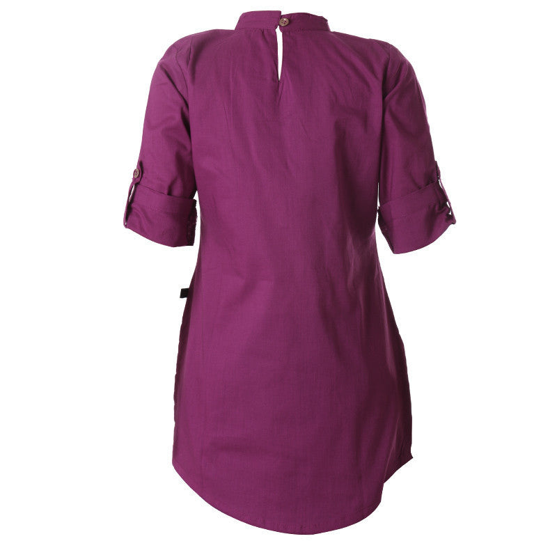 Boysenberry Casual Wear Cotton Kids Kurta From eSTYLe