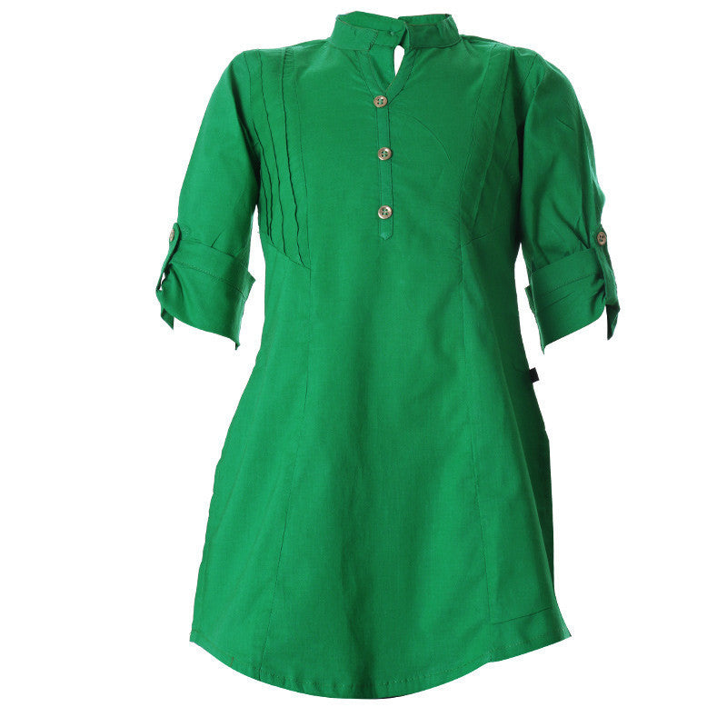 Jelly Bean Chinese Collar Cotton Pretty Kurta From eSTYLe