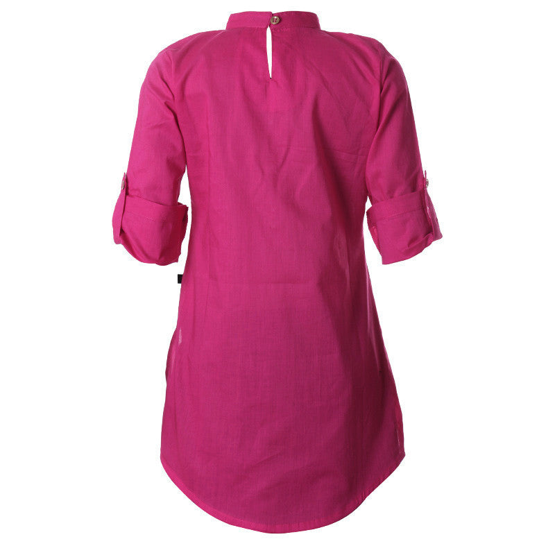 Magenta Pink Cotton Kurta For Cute Kids From eSTYLe