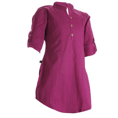 Festival Fuchsia Cotton Pretty Kids Kurta From eSTYLe