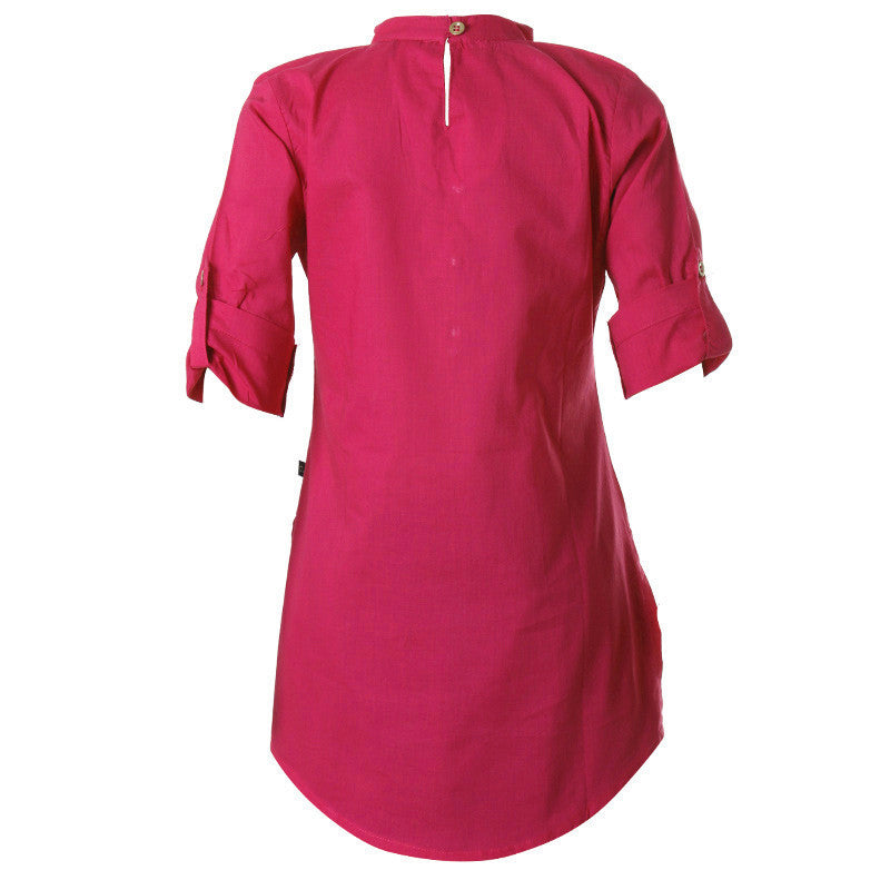 Virtual Pink Cotton Pretty Kurta For Girls From eSTYLe