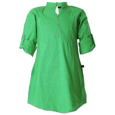 eSTYLe Island Green Cotton Casual Kids Kurta