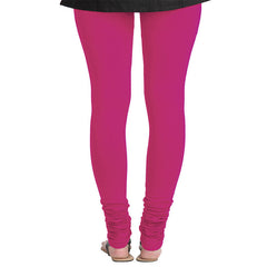 Raspberry Sorbet Pink Lycra Cotton Trendy Leggings From eSTYLe