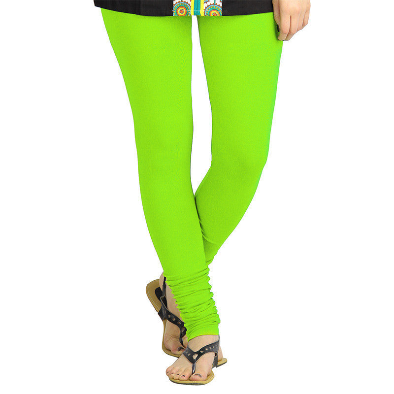 Jasmine Green Colour Pure Lycra Cotton Modish Leggings From eSTYLe