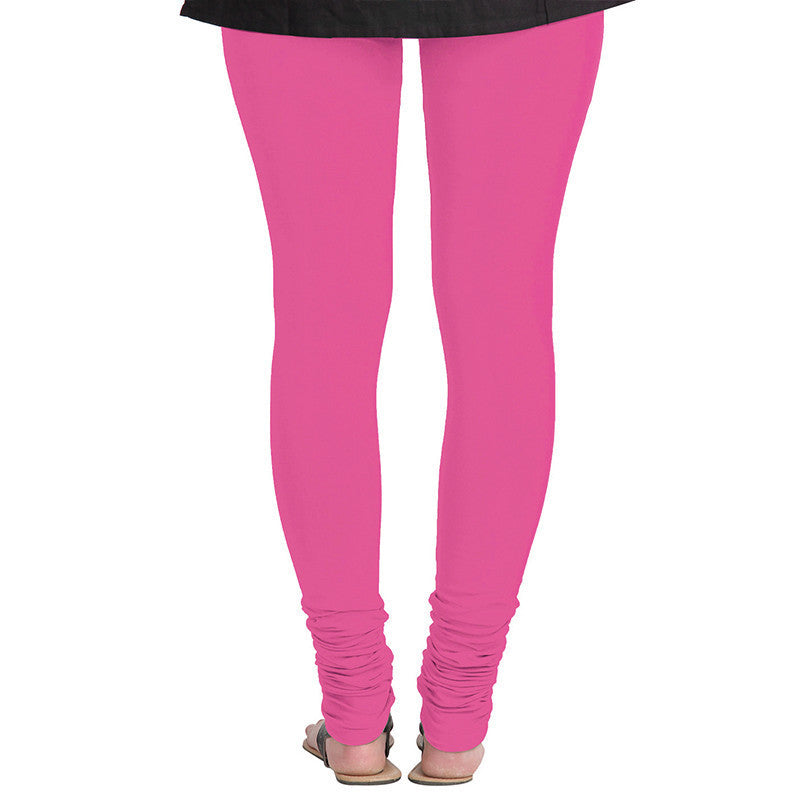 eSTYLe Fuchsia Purple Colour Pure Lycra Cotton Choice Leggings