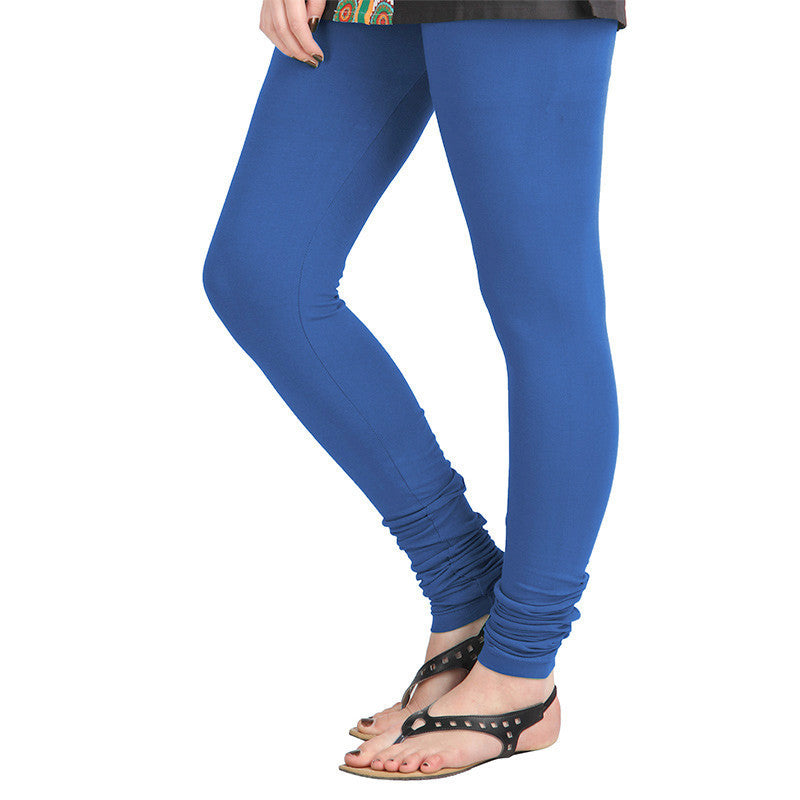 eSTYLe Turkish Sea Blue Colour Lycra Cotton Modish Leggings