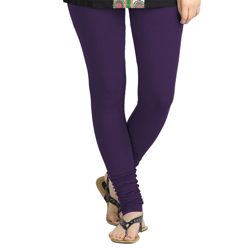 Parachute Purple Lycra Cotton Leggings From eSTYLe
