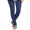 Twilight Blue Colour Lycra Cotton Fine Strechable Leggings From eSTYLe