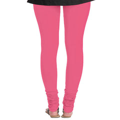 eSTYLe Paraside Pink Colour Pure Lycra Cotton Leggings