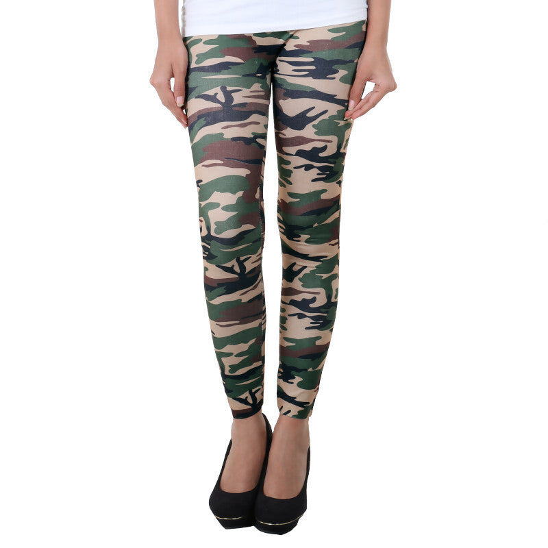 Military Prints On Stylish Enrich Finished Leggings From Estyle