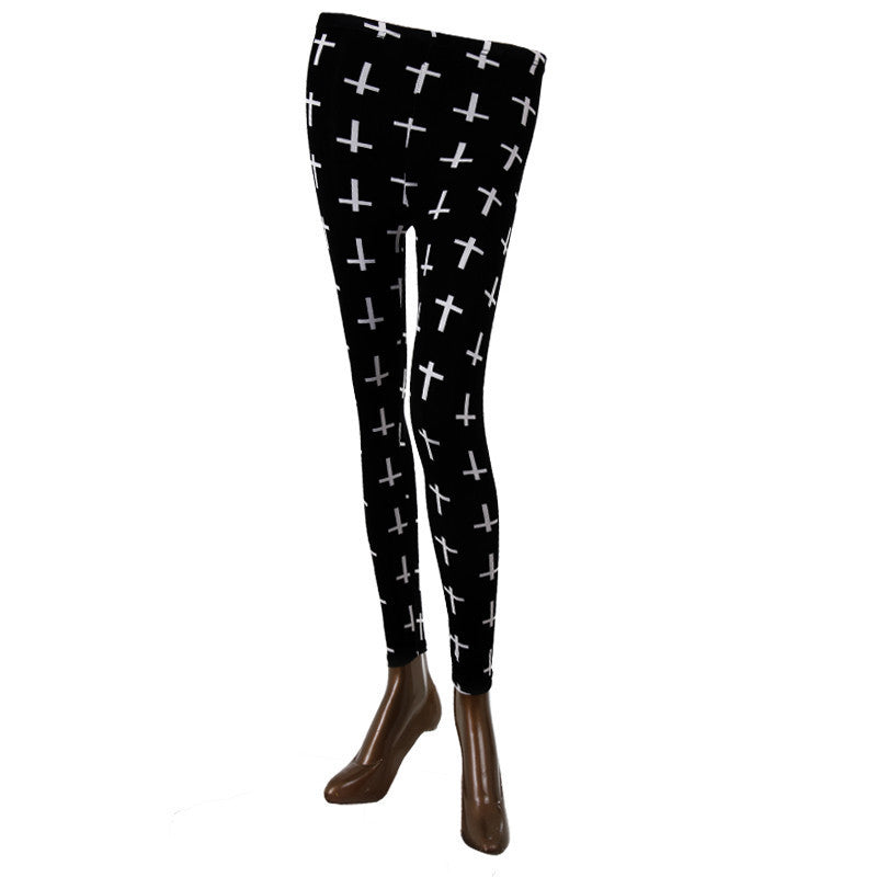Plus Prints On Stylish Enrich Finished Leggings From Estyle