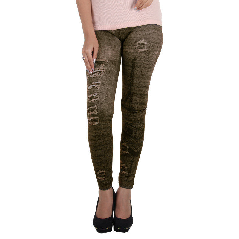 Light Skinny Black Jeans Printed On Enrich Finished Leggings From Estyle