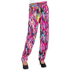 eSTYLe Hop On Trendy Dice Printed Rayon Parallel Pants With Stylish Belt