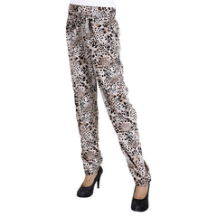 eSTYLe Trendy Cheetah Shade Printed Rayon Parallel Pants With Stylish Belt
