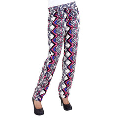 eSTYLe Zigzag Printed Rayon Parallel Pants With Stylish Belt