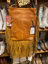 Load image into Gallery viewer, Conceal and Carry Brown and White Hair on Hide Tooled Crossbody