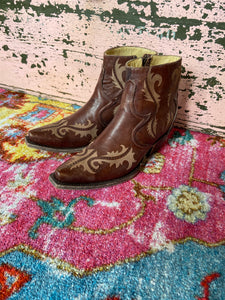 Brown Corral Booties