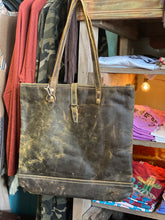 Load image into Gallery viewer, Fleece Leather Tote Bag