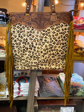 Load image into Gallery viewer, Tooled Cheetah Print Hobo Bag