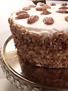 Browned Butter Pecan Cake with Buttercream Frosting