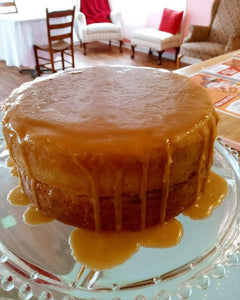 Keto Old Fashioned Caramel Cake