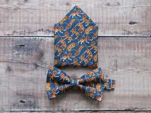 Liberty Tiger Bowtie And Pocket Square Set.