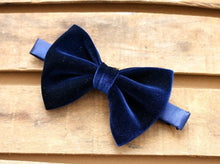 Load image into Gallery viewer, Velvet Butterfly Bowtie.