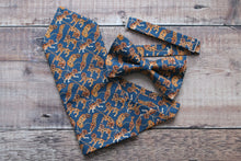 Load image into Gallery viewer, Liberty Tiger Bowtie And Pocket Square Set.