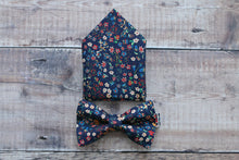 Load image into Gallery viewer, Liberty Floral Navy Bowtie