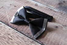 Load image into Gallery viewer, Metallic Edged Bowtie.