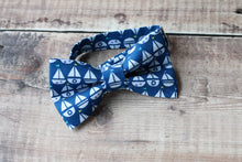 Load image into Gallery viewer, Sailboat Print Bowtie.
