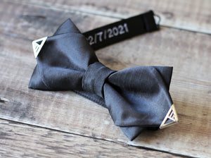Personalised Gold Tipped Diamond Bowtie.